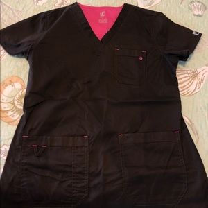 Brown Med Couture scrubs
